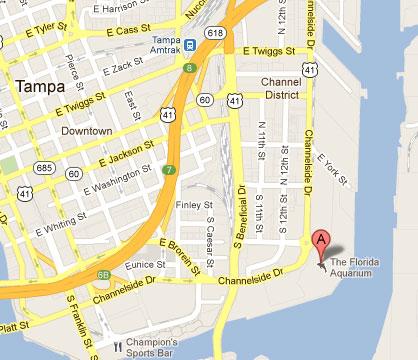 Driving Map Of Florida.Cost 2 Drive Florida Aquarium