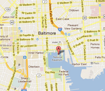 National Aquarium Baltimore Map Cost 2 Drive | National Aquarium in Baltimore