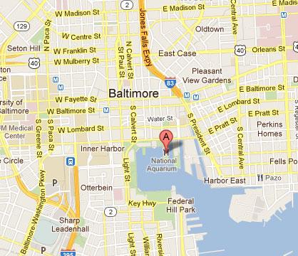 national aquarium baltimore map Cost 2 Drive National Aquarium In Baltimore national aquarium baltimore map