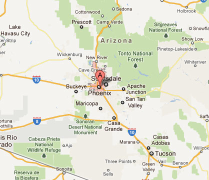 Cost 2 Drive | Phoenix, Arizona Map From Phoenix To Grand Canyon on us map showing grand canyon, map from phoenix to death valley, map of grand canyon and surrounding cities,