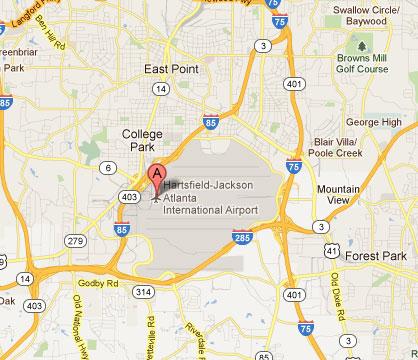 Cost Drive HartsfieldJackson Atlanta International Airport - Where is atlanta