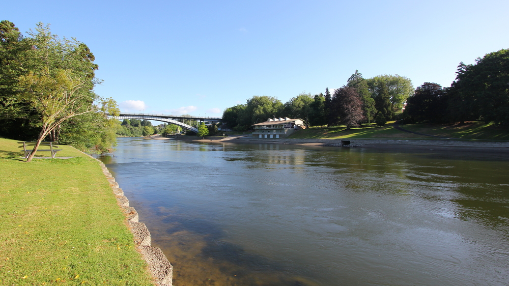 Waikato River in Hamilton, New Zealand
