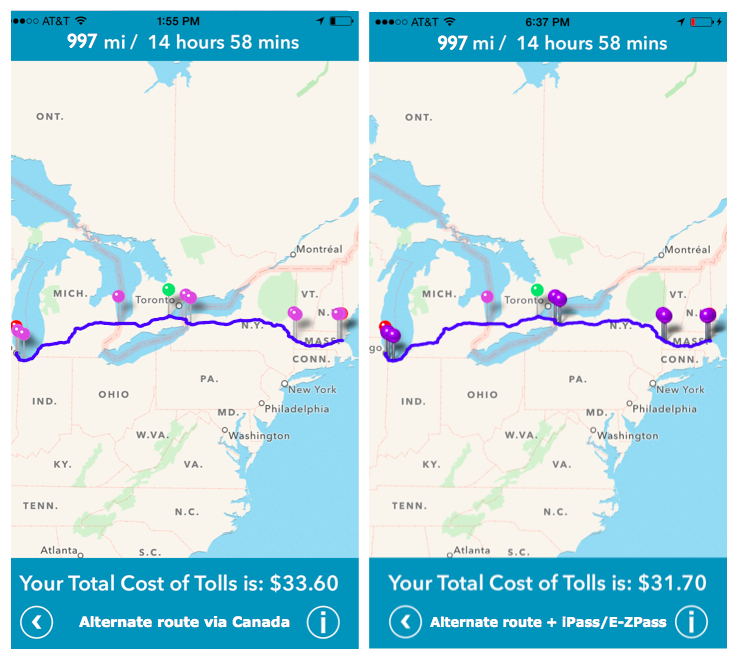 Cost 2 Drive   The Most Expensive Toll Routes in America
