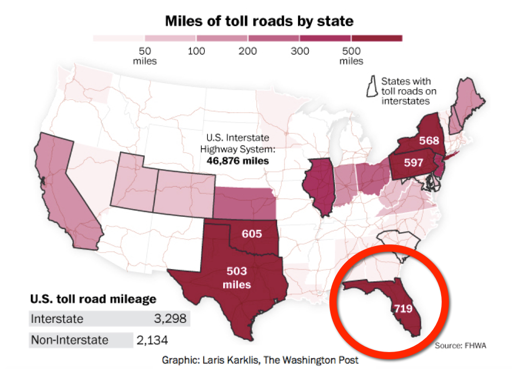 Florida toll road miles